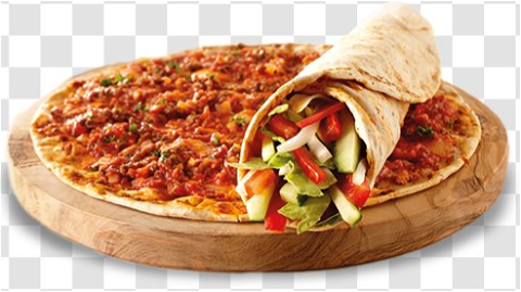 Foto Turkse pizza shoarma